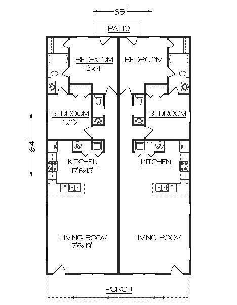 duplex floor plans for narrow lots duplex plans for narrow lots studio design gallery best design