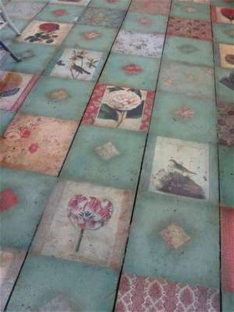 decoupage floors diy this is a decoupaged floor this idea not the same