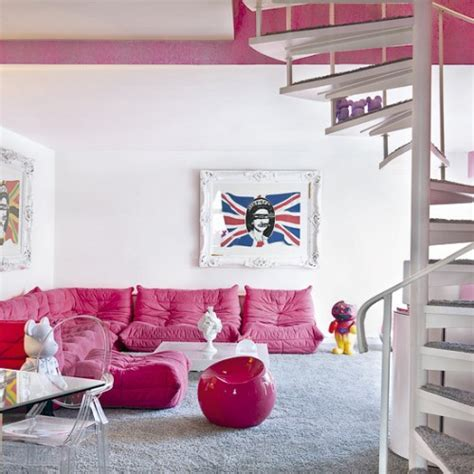 pink living room living room pink color home design