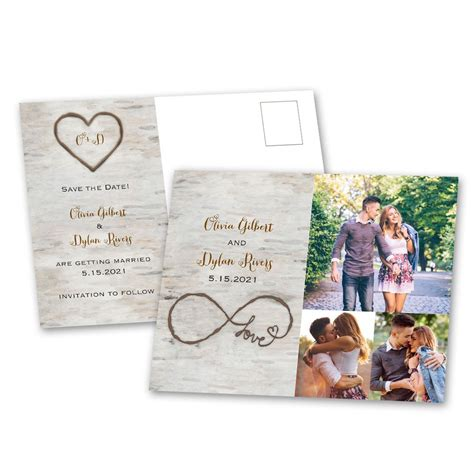 save the date birch save the date postcard s bridal bargains
