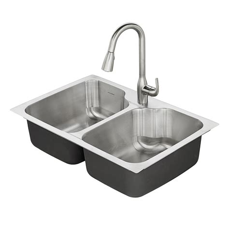 kitchen sink 33 x 22 shop american standard tulsa 33 in x 22 in basin