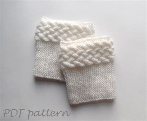 cable knit boot cuffs pattern knitting pattern cable boot cuffs on luulla