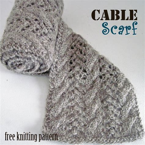cable knit scarf pattern free knitting pattern cable scarf