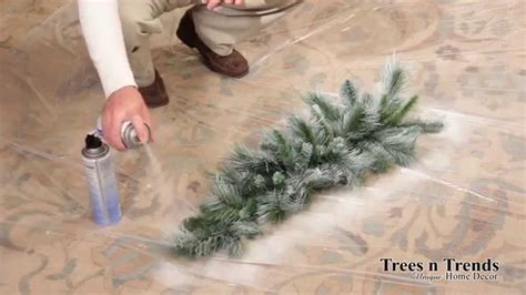 can you spray paint an artificial tree how to flock or snow spray a tree wreath or