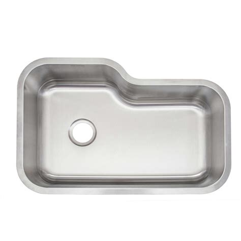 glacier bay stainless steel kitchen sink glacier bay undermount stainless steel 32 in single basin