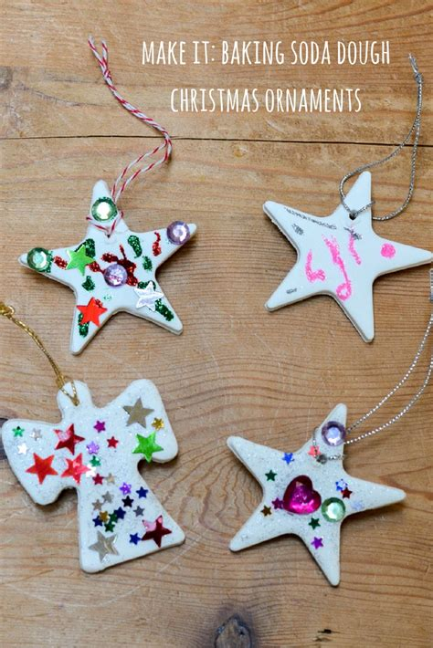 baking crafts for ornaments using baking soda dough