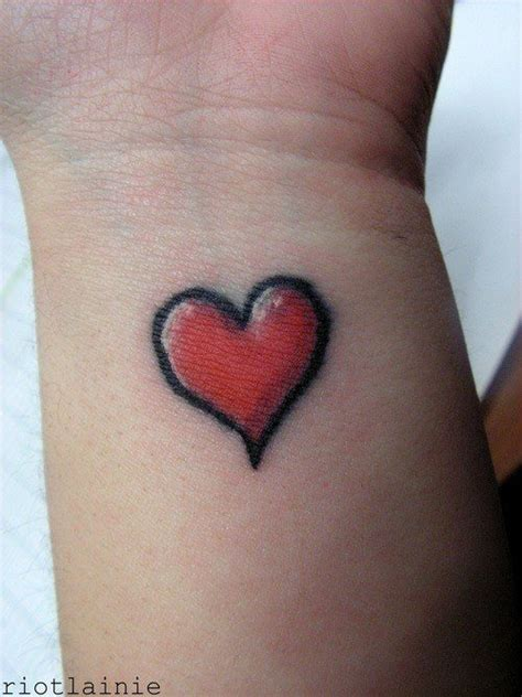 simple heart tattoo design wrist love passion body