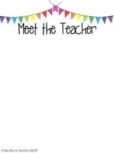 free meet your teacher letter templates classroom