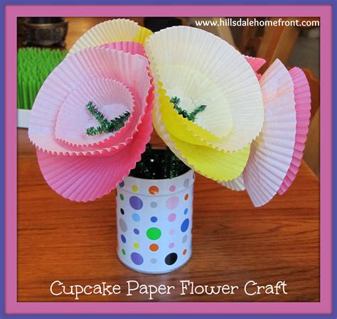 paper flower craft for children cupcake paper flower craft for