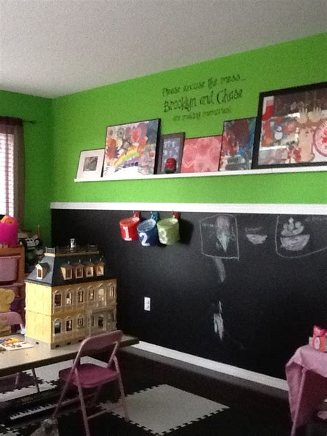 chalkboard paint ideas for basement playroom half chalkboard paint wall playroom ideas