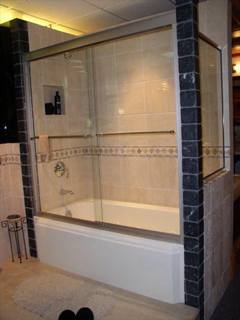 install shower doors on tub bathtub shower installation 171 bathroom design