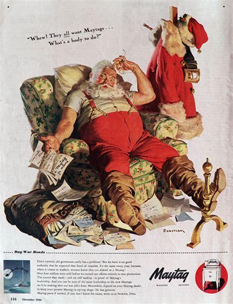 1944 wwii maytag appliances ad haddon sundblom santa