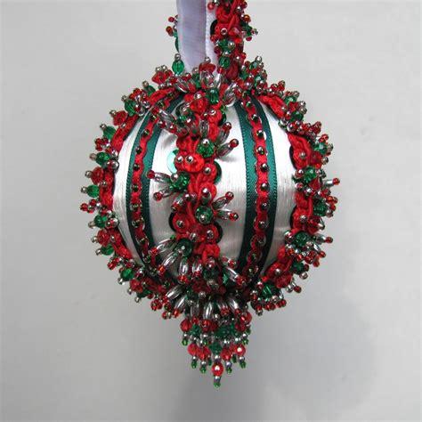 beaded ornaments beaded ornament kit yuletide greeting
