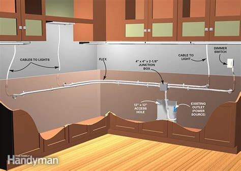 how to install cabinet lights how to install cabinet lighting in your kitchen