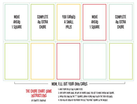 how to make a printable card free printable chore paging supermom
