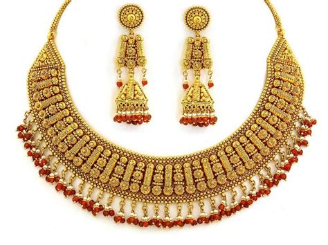 gold jewelry charges in india gold jewellery designs 22kt designer necklace set