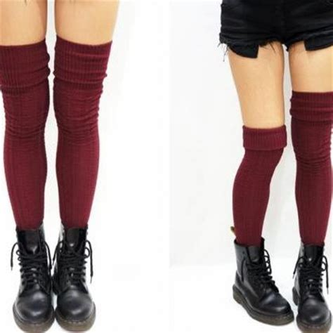 thigh high cable knit socks cozy cable knit thigh high socks boot socks burgundy on