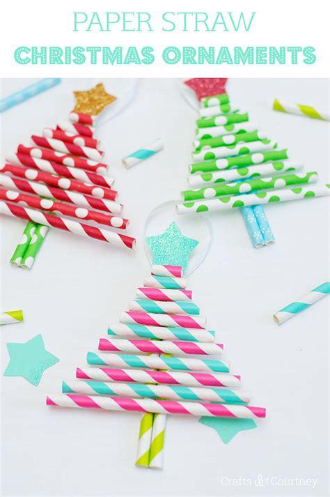 paper straw craft ideas decorative paper straw tree ornaments