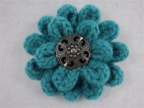 knitted flower 3 quot flower pin pdf by moniquerae knitting pattern
