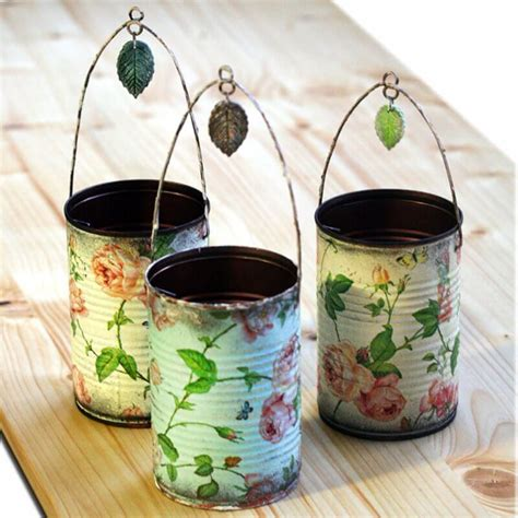 can you decoupage photos ideas para reciclar latas 30 manualidades creativas