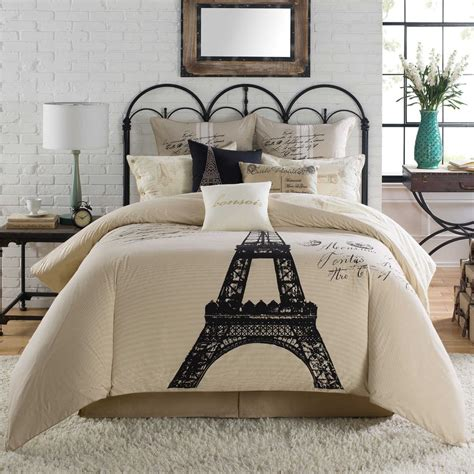 eiffel tower comforter sets 5 pc anthology king comforter set pillows eiffel
