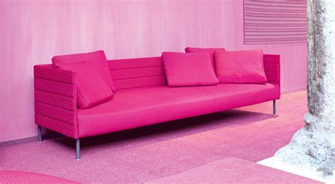 pink sofa slipcover pink patio sofa from luminaire