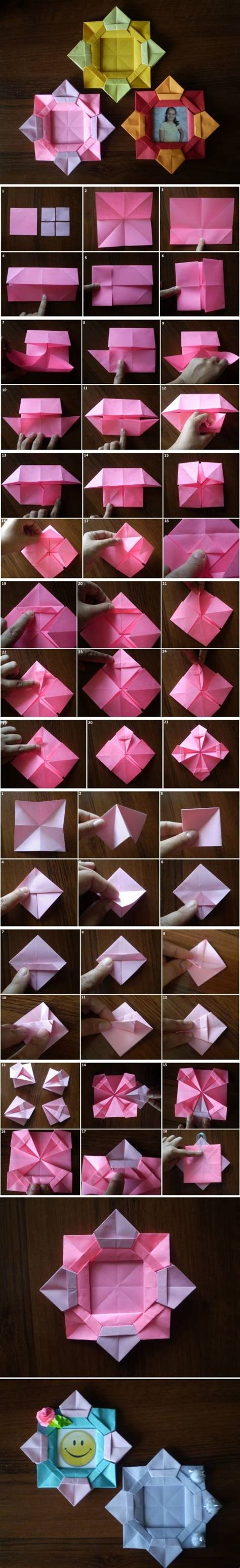 picture frame origami how to make origami flower picture frame step by step diy