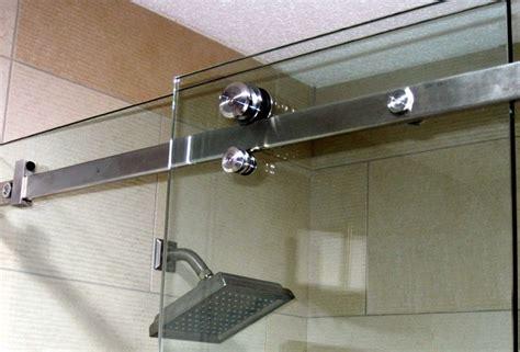 essence frameless sliding shower door bathroom
