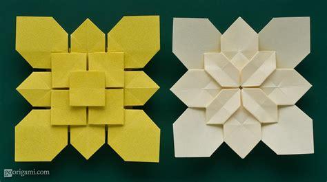 origami hydrangea clover and hydrangea tessellations by shuzo fujimoto go