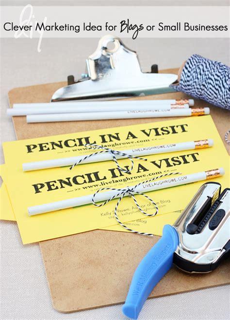 Clever Desk Ideas pencil in a visit promotion live laugh linky 109 live