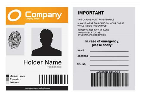 id card free free id card template images