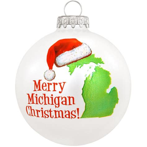 merry ornament merry michigan glass ornament bronner s
