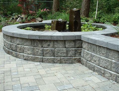 garden walls blocks retaining wall blocks landscaping network