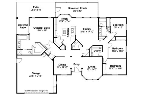 houses and floor plans mediterranean house plans bryant 11 024 associated designs