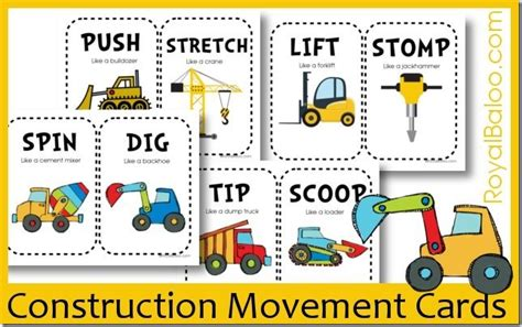 Free Construction Movement Cards   Royal Baloo