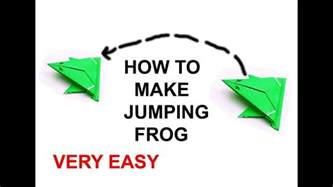 how to make an origami jumping frog easy origami jumping frog how to make a paper frog that jumps
