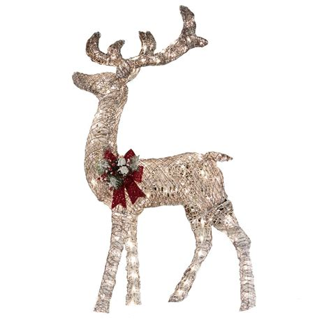 light up reindeer outdoor decoration living 52 in lighted vine reindeer outdoor