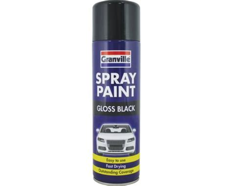 spray paint quality granville quality gloss black universal spray paint 500ml
