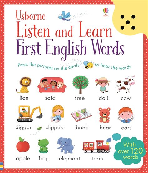 words and pictures book listen and learn words at usborne children