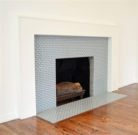 fireplace subway tile surround images