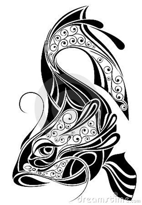 sign of pisces tattoo design stock photography image