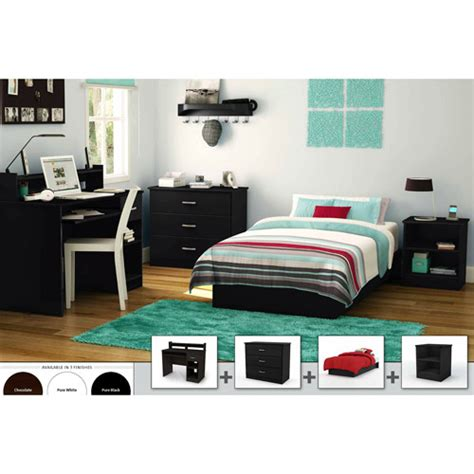 south shore bedroom furniture south shore 4 bedroom furniture set black walmart