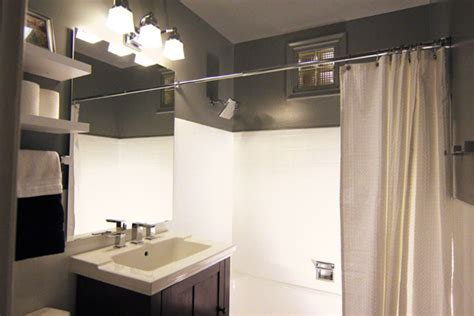 win a basement makeover a small bathroom makeover before and after