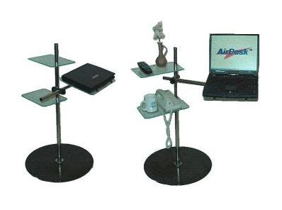 air desk stand lying on the reclined computing with your laptop