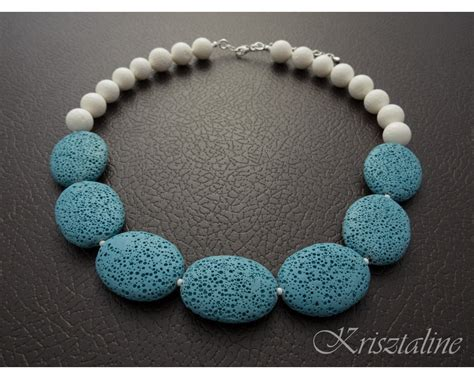 stones jewelry pastel blue lava jewelry