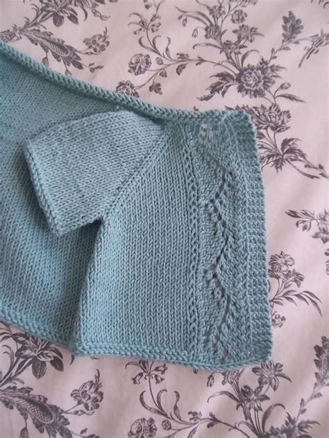 baby cardigan knitted in one j adore knitting vine lace cardigan