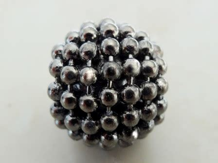 bead emporium metallic grey beaded metal bead 15x13mm bead emporium