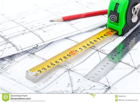 drawing tool with measurements architectural drawings and measurement tools royalty free