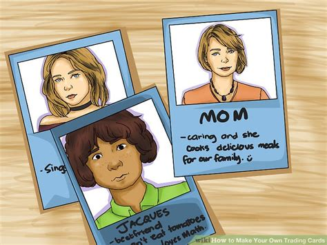 how to make your own trading card 3 ways to make your own trading cards wikihow