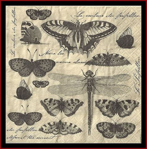 decoupage with tissue paper butterfly collection 4 paper napkins decoupage tissue